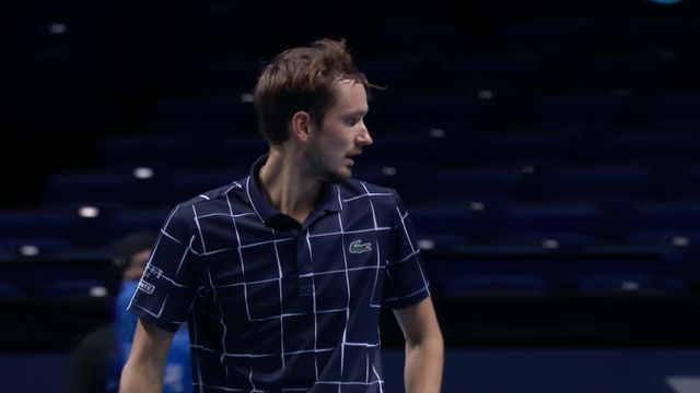 Round Robin, N. Djokovic (SRB) - D. Medvedev (RUS) (6-3, 6-3): Superbe performance de Medvedev [RTS]
