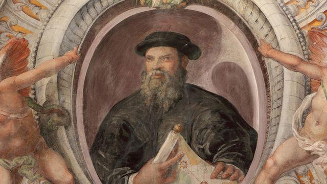 Portrait de l'explorateur portugais Ferdinand Magellan, à la Villa Farnese en Italie. [Manuel Cohen - AFP]