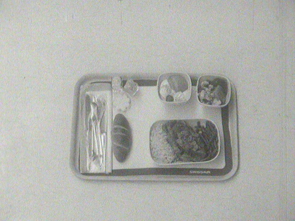 Repas chez Swissair en 1962. [RTS]