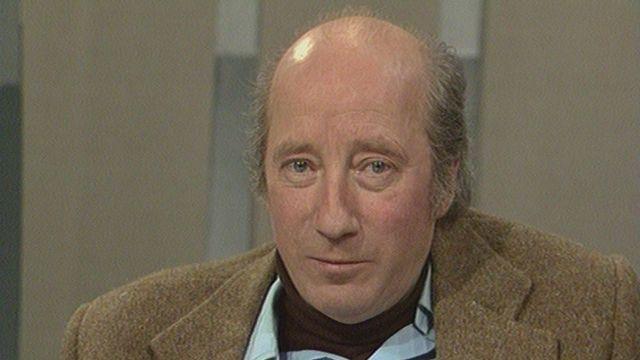 Michel Robin sur le plateau de Spécial cinéma en 1979. [RTS]
