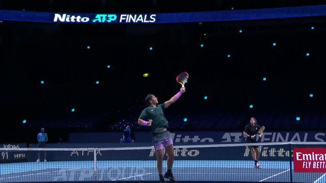 Round Robin, R. Nadal (ESP) - S. Tsitsipas (GRE) (6-4, 4-6, 6-2): Nadal s'en sort et jouera Medvedev en demies [RTS]