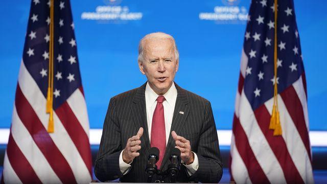"Joe Biden a dénoncé ""l'incroyable irresponsabilité"" de Donald Trump. [Andrew Harnik - Keystone/AP]"