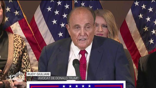 États-Unis: Trump et son avocat Rudy Giuliani contestent toujours les résultats de la présidentielle américaine. [RTS]