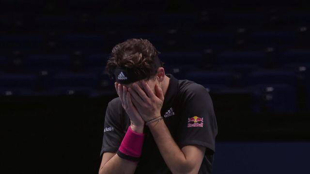 1-2 finale, D. Thiem (AUT) - N. Djokovic (SRB) (7-5, 6-7, 7-6): Thiem sort Djoko et se hisse en finale [RTS]
