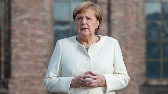 La chancelière allemande Angela Merkel photographiée 3 octobre 2020. [ EPA/ANDREAS GORA - Keystone]