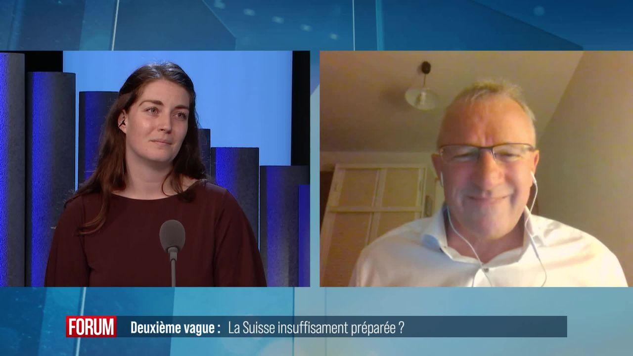 La Suisse mal préparée pour la deuxième vague pandémique ? Débat entre Léonore Porchet et Benjamin Roduit [RTS]