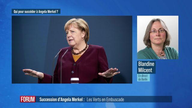 Les écologistes allemands en embuscade pour la succession d'Angela Merkel [RTS]