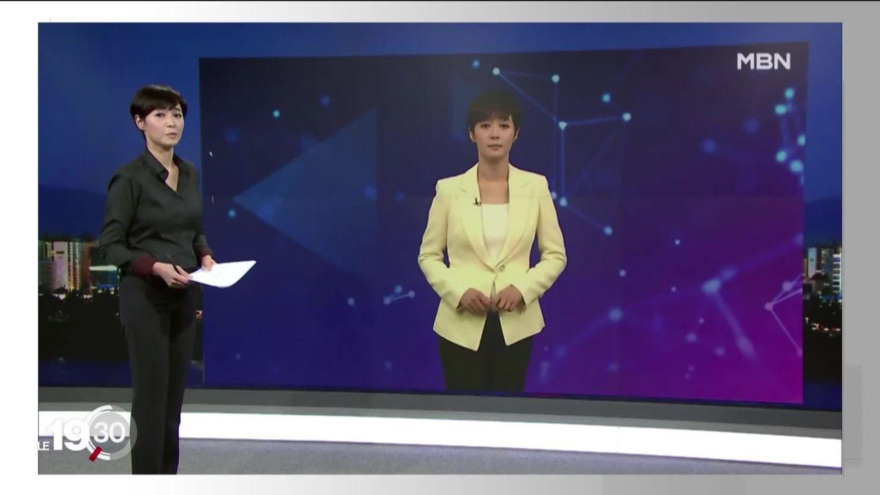La première animatrice télé virtuelle fait ses débuts en Corée du Sud. [RTS]