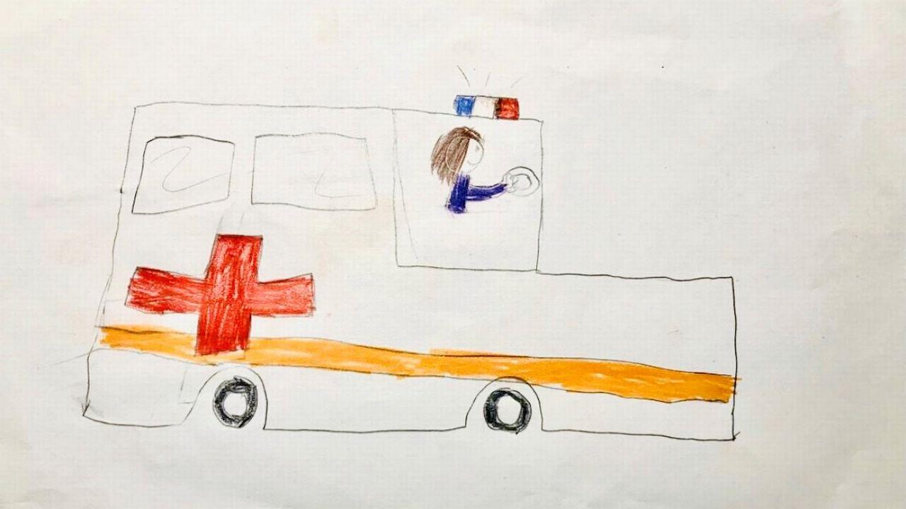 """""""L'ambulance"""", un dessin réalisé par Luna. [Luna]"""