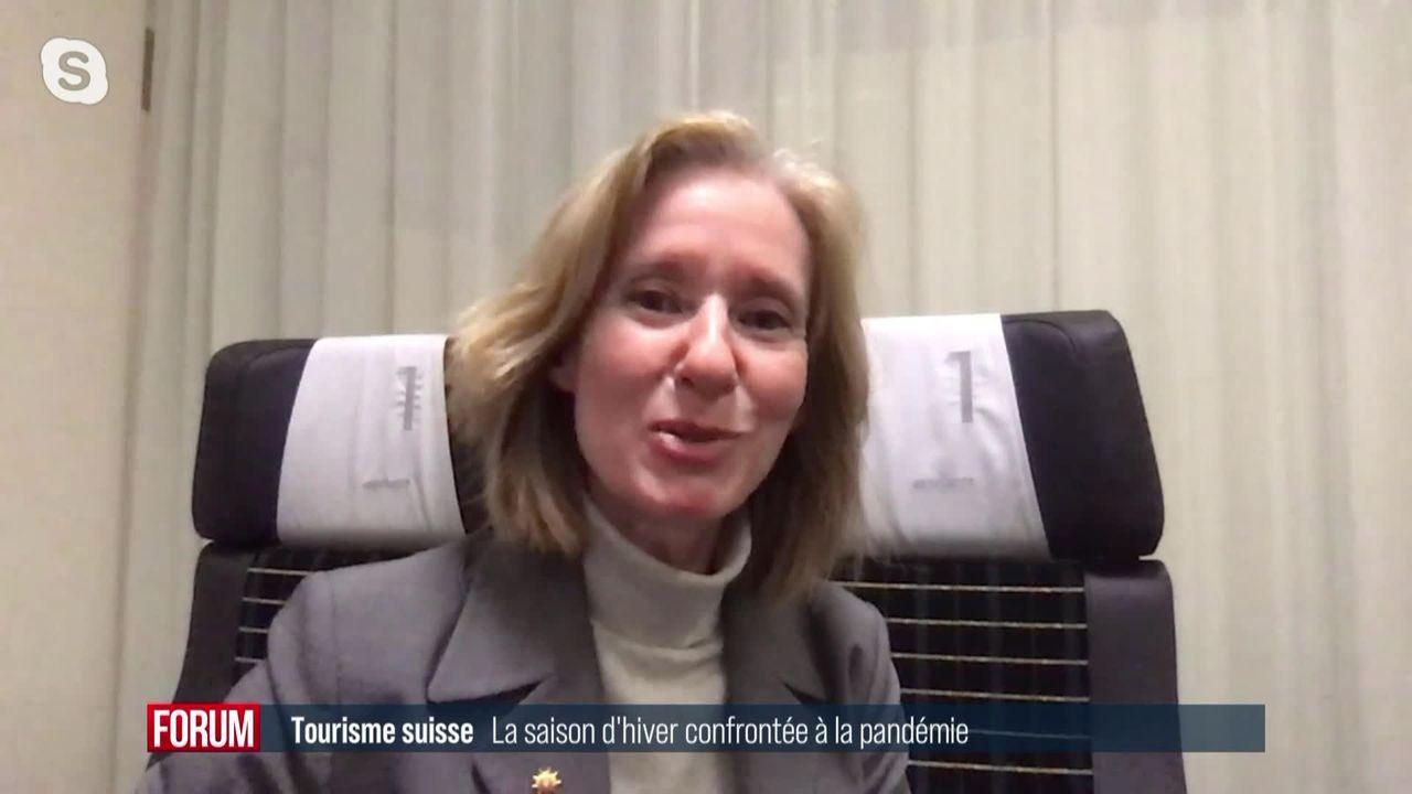 La saison d'hiver du tourisme suisse confrontée à la pandémie: interview de Véronique Kanel [RTS]