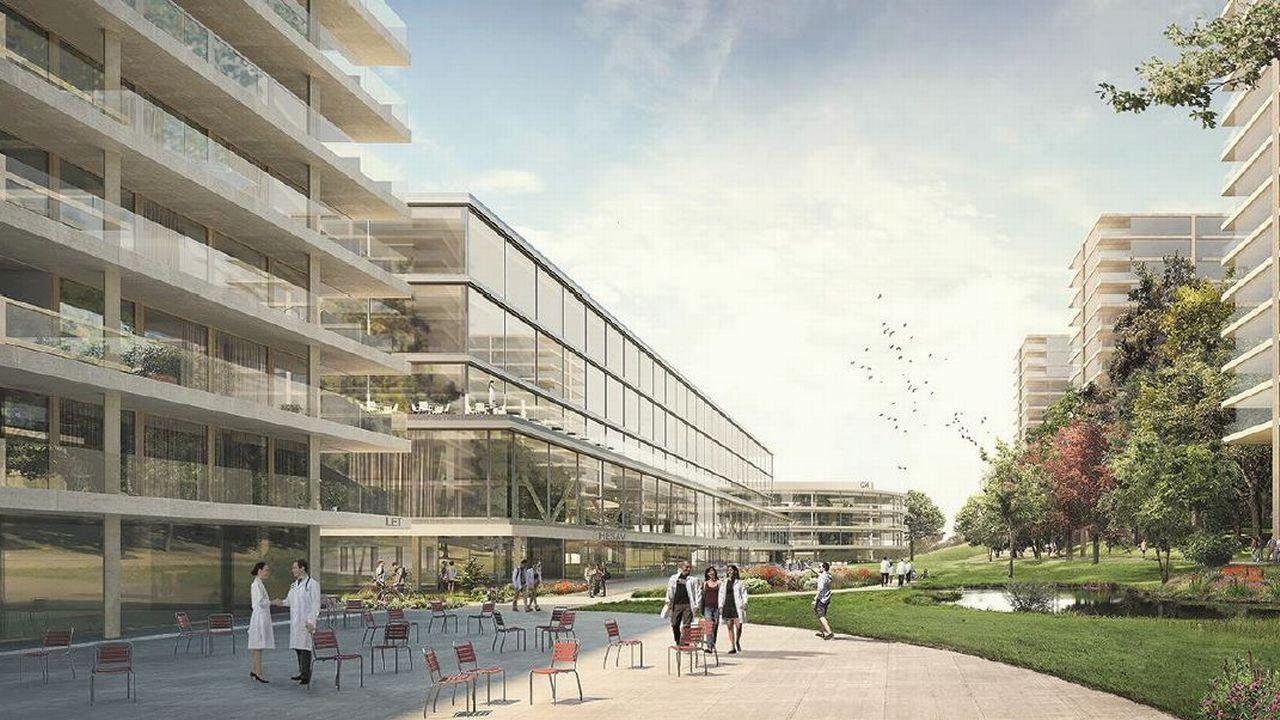 Une image de synthèse du futur Campus santé. [Etat de Vaud]