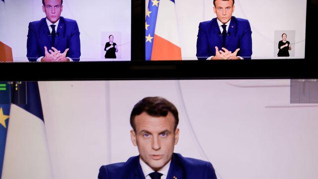 Emmanuel Macron lors de son intervention radio-télévisée, mardi 24.11.2020. [Thomas Coex - AFP]