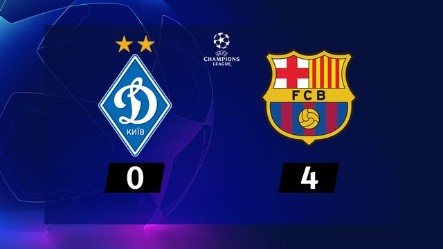 4e journée, Dynamo Kiev - Barcelone (0-4) [RTS]
