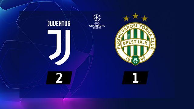 4e journée, Juventus - Ferencvaros (2-1) [RTS]