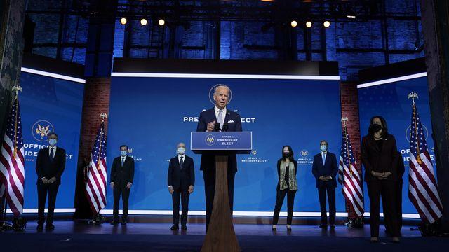 Joe Biden a présenté quelques membres de son futur gouvernement. [AP Photo/Carolyn Kaster - Keystone]