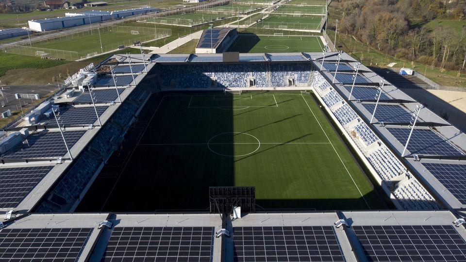 Le Lausanne-Sport va pouvoir inaugurer son nouvel écrin. [Laurent Gilliéron - Keystone]