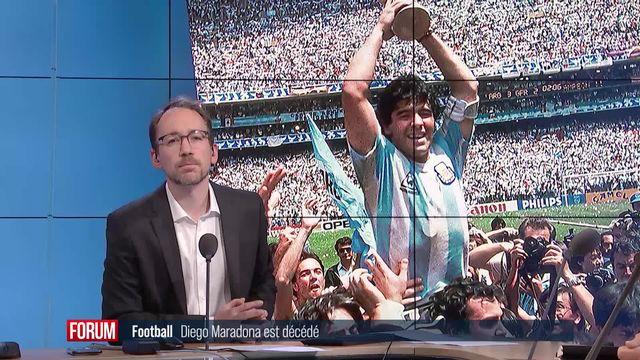 Mort du footballeur Diego Maradona: réactions de Grégory Quin et Christian Constantin [RTS]