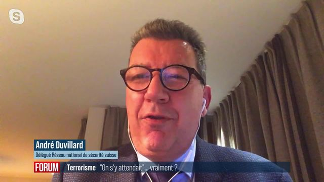 Attaque terroriste présumée à Lugano (TI): interview d'André Duvillard [RTS]