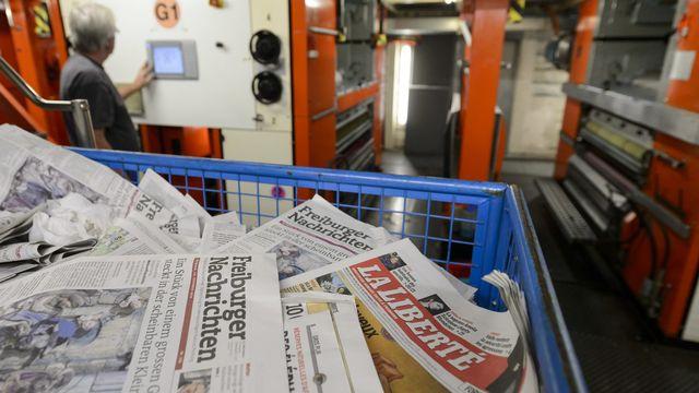 Le site de Fribourg a subi en 2014 l'arrêt de la rotative, qui imprimait notamment La Liberté et les Freiburger Nachrichten. [Laurent Gillieron - Keystone]