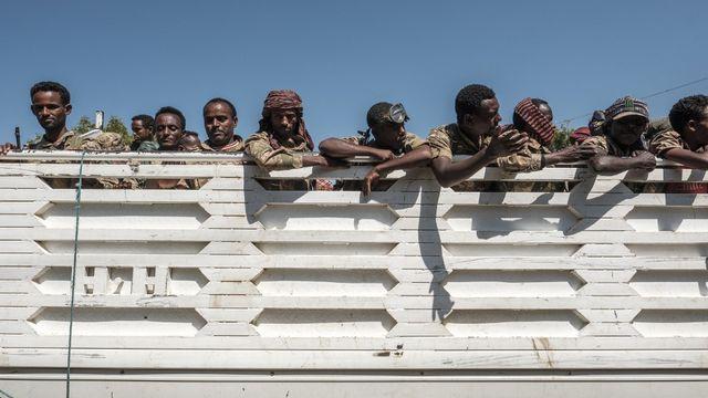 Des membres des forces spéciales Amhara en Ethiopie. [Eduardo Soteras - AFP]