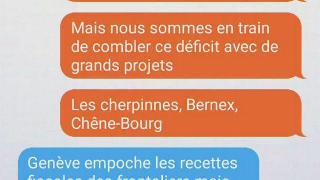 Le rôle des frontières à Genève, échanges simulés [RTS]