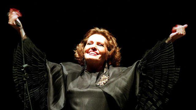 Amalia Rodrigues en 1994. [Joao Paulo Trindade - EPA/Lusa files/Keystone]