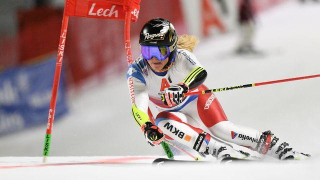 Lara Gut a vécu une très belle compétition à Lech. [EPA/PHILIPP GUELLAND - Keystone]