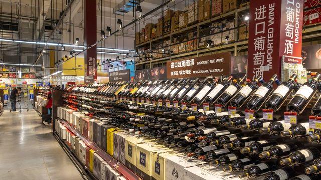 Des vins australiens importés en Chine. [dycj/Imaginechina - AFP]