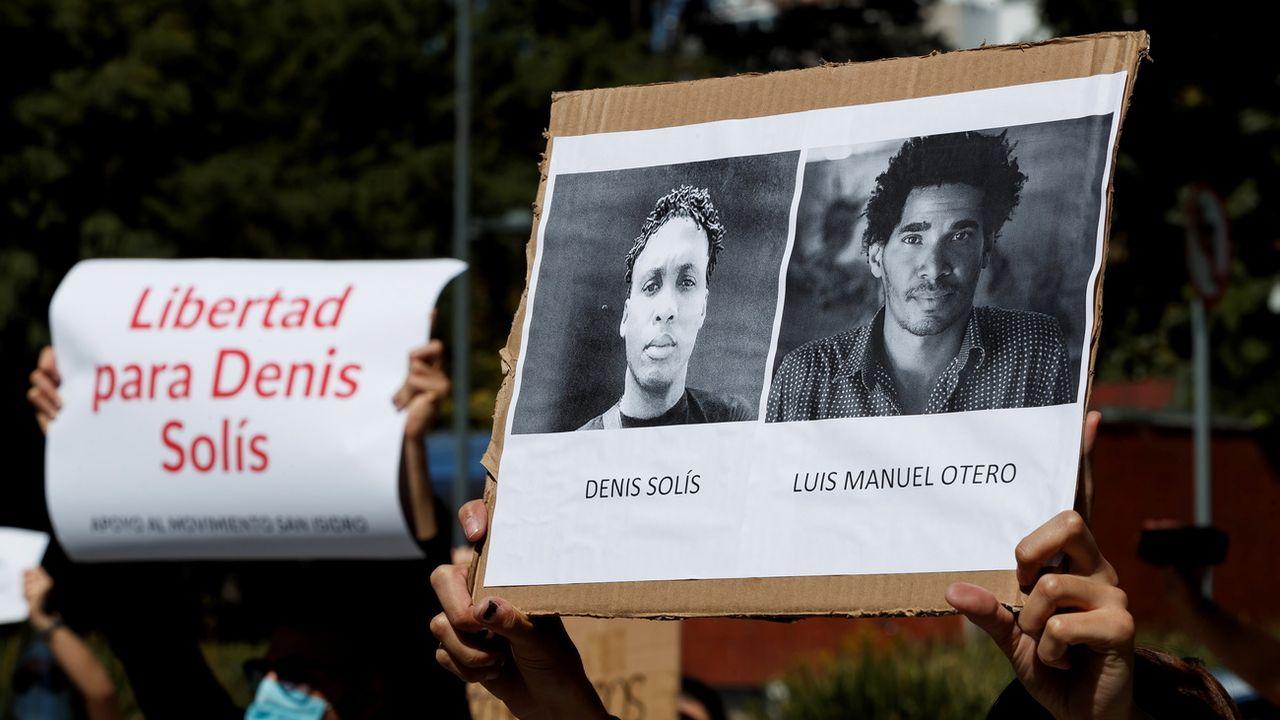 Mobilisation exceptionnelle à Cuba pour la liberté d'expression. [Jose Mendez - Keystone]