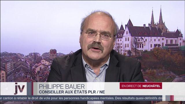 Réaction du conseiller aux États Phillipe Bauer (PLR-NE) [RTS]