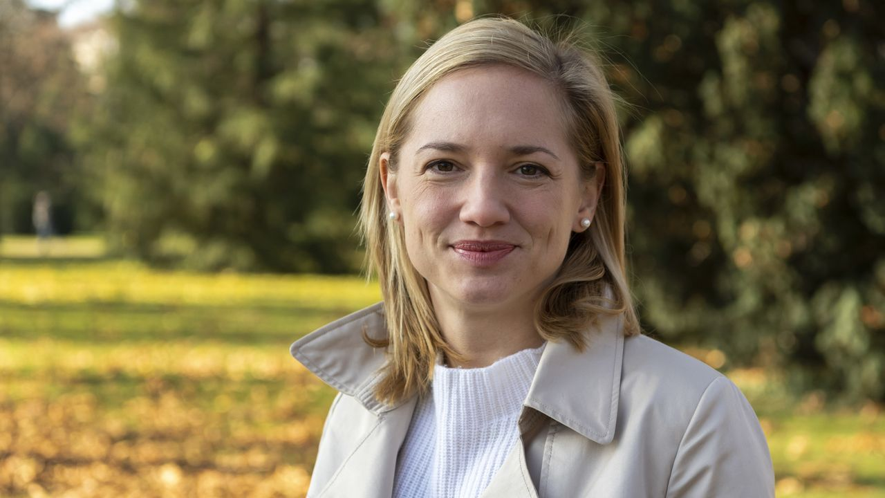 La Vert'libérale Esther Keller permet à sa formation d'entrer au gouvernement de Bâle-Ville et au camp bourgeois de prendre la majorité. [Georgios Kefalas - Keystone]
