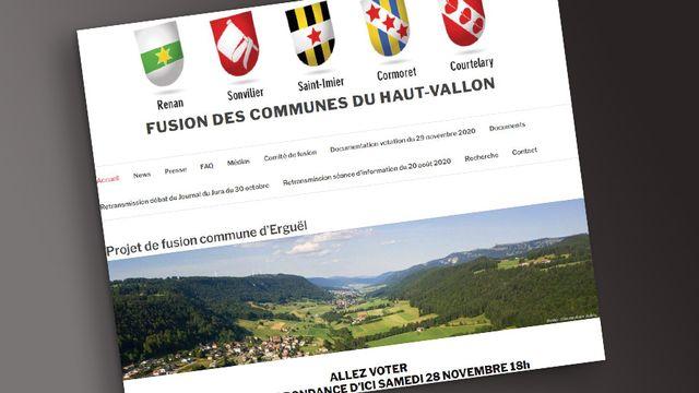 Les communes du Haut Vallon dans le Jura bernois ont refusé la création de la commune fusionnée d'Erguël. [DR]