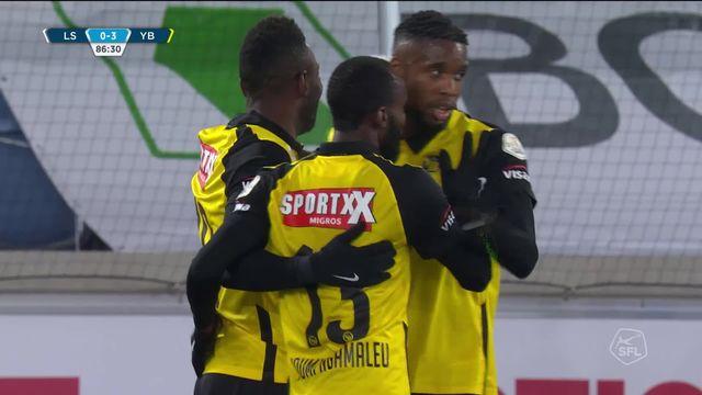 9e journée, Lausanne-Sport - Young Boys (0-3): les Vaudois commencent sur une défaite dans leur nouveau stade [RTS]