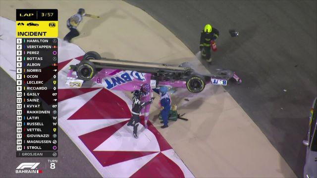 GP de Bahreïn: deuxième accident. [RTS]