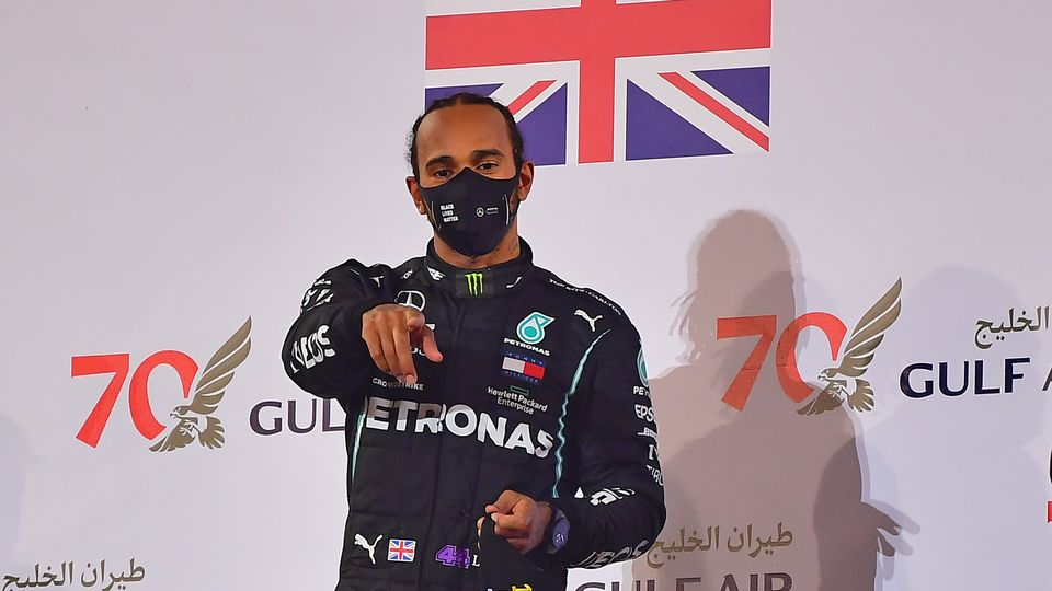Hamilton se souviendra longtemps de cette course pas comme les autres. [Giuseppe Cacace - Keystone]