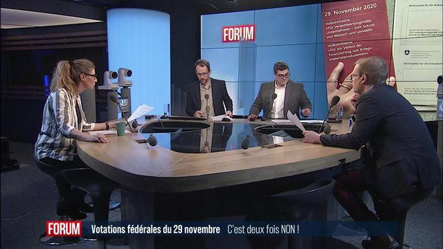 Initiatives populaires fédérales rejetées : L'économie l'emporte sur les droits de l'homme [RTS]