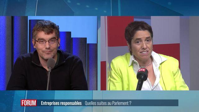 Entreprises responsables: Quelles suites au Parlement? [RTS]