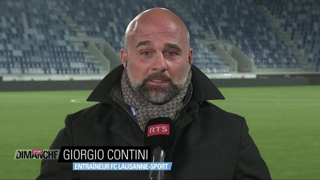 Football: Giorgio Contini au micro de la rts [RTS]