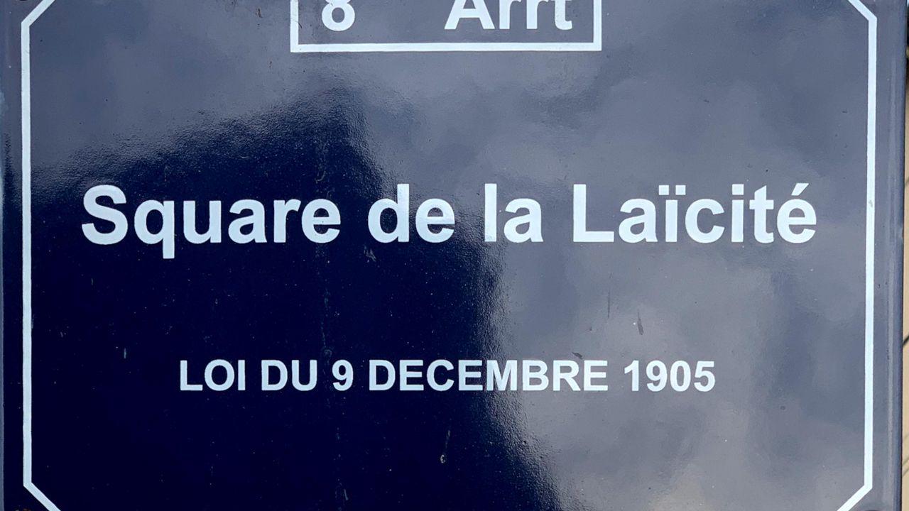 Plaque du square de la laïcité à Lyon, France [Benoît Prieur - Wikimedia Commons CC BY-SA 4.0]