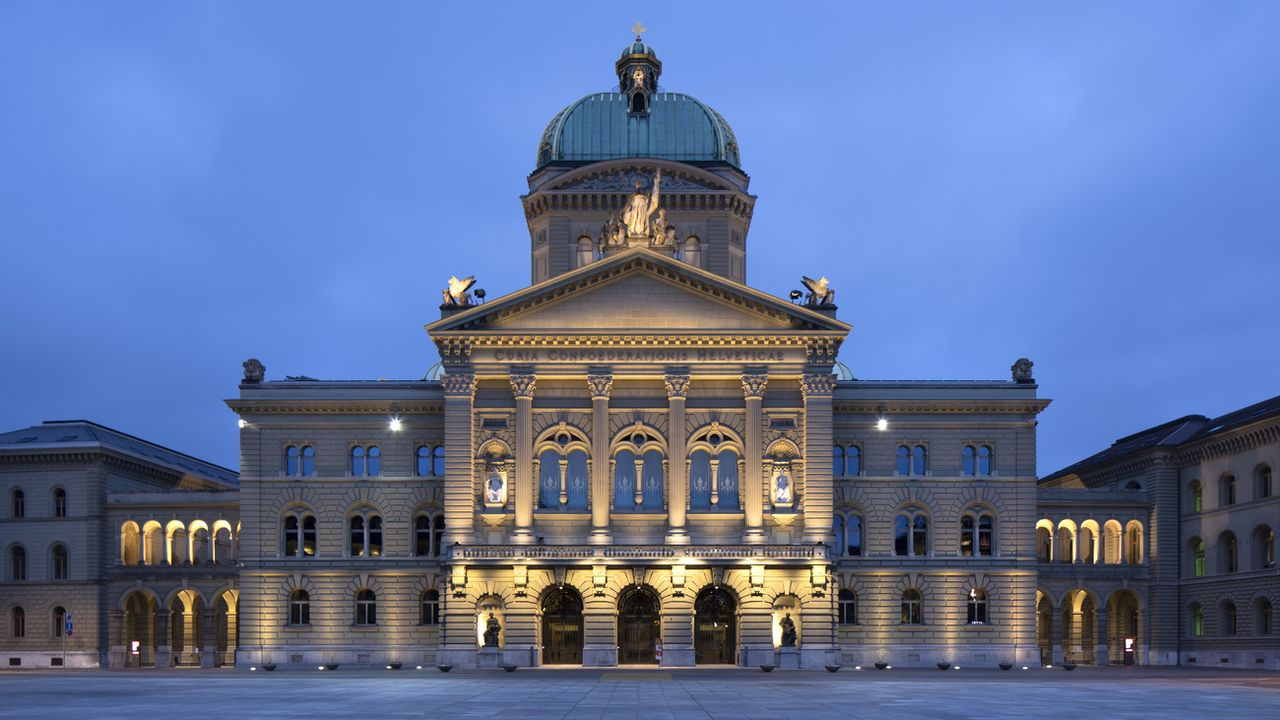 Le Palais fédéral à Berne. [Peter Klaunzer - Keystone]