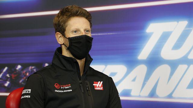 Romain Grosjean a subi un spectaculaire accident dimanche lors du GP de Bahrein. [Antonin Vincent - Keystone]