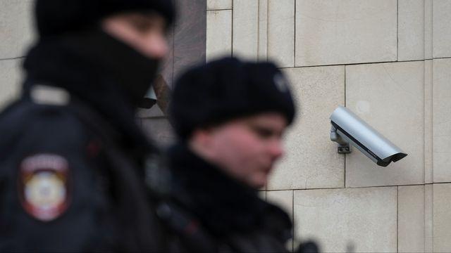 Une caméra de surveillance dans le centre de Moscou, en Russie, le 26 janvier 2020. [Shamil Zhumatov - Reuters]