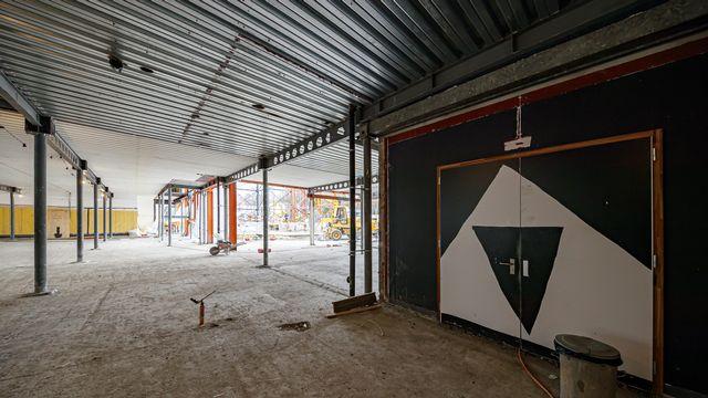 Le chantier du Théâtre de Vidy-Lausanne, en cours de rénovation et agrandissement. [Valentin Flauraud - Keystone]
