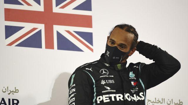 Hamilton s'est réveillé lundi avec de légers symptômes. [Bryn Lennon - Keystone]