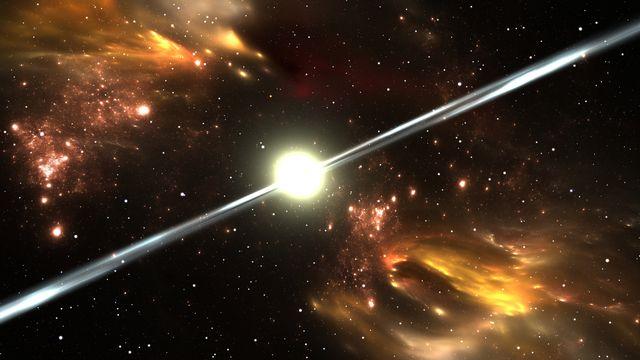 Représentation d'un pulsar, une étoile à neutron. Juric.P Depositphotos [Juric.P - Depositphotos]
