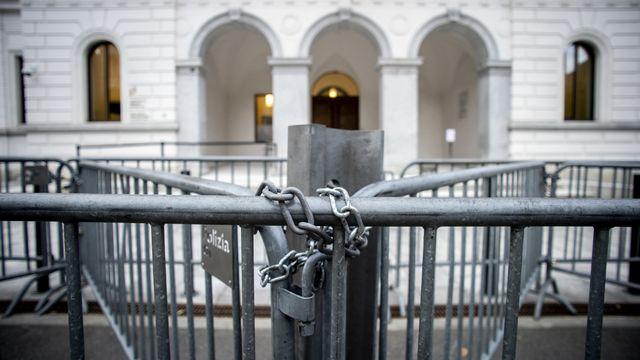Le Tribunal pénal fédéral de Bellinzone, photographié ici le 6 octobre 2020. [Francesca Agosta - Keystone]
