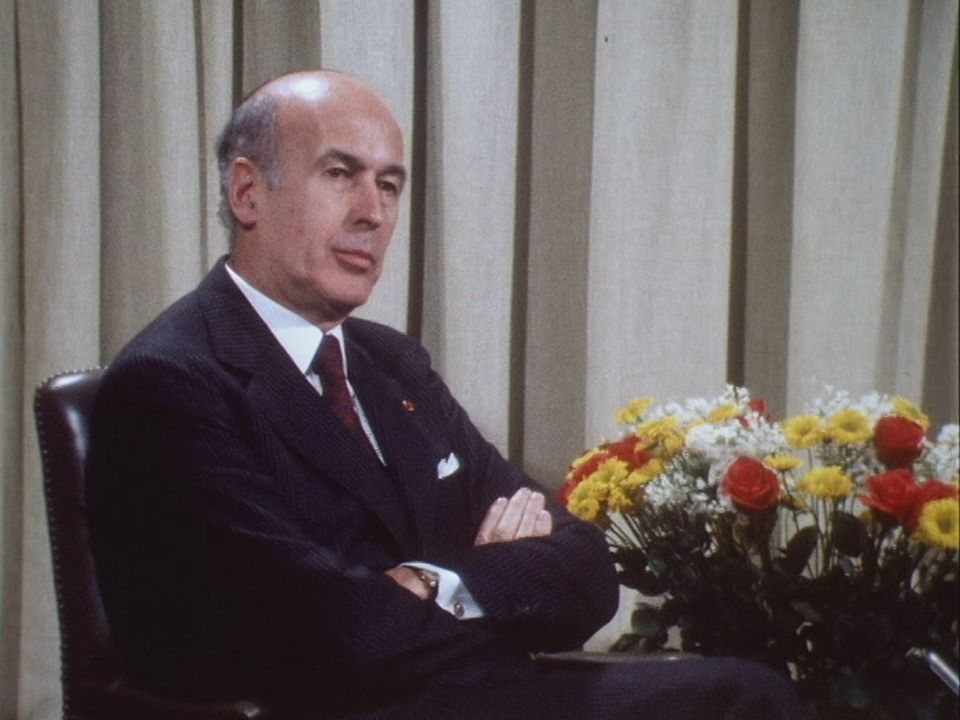 Le président français Valéry Giscard d'Estaing en 1979. [RTS]