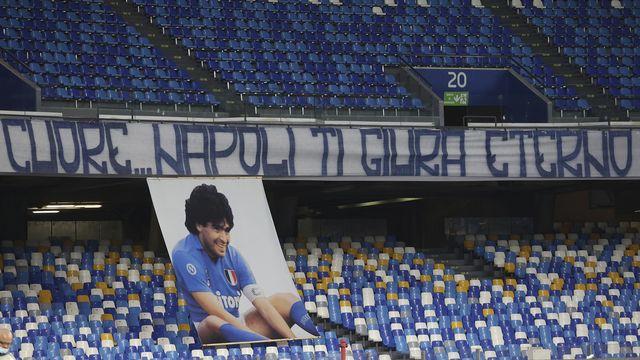Naples n'oubliera jamais Maradona. [Alessandro Garofalo - Keystone]