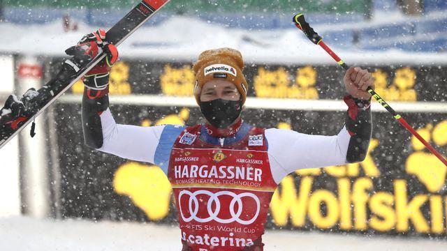 Odermatt s'offre un sixième podium de Coupe du monde. [Alessandro Trovati - Keystone]