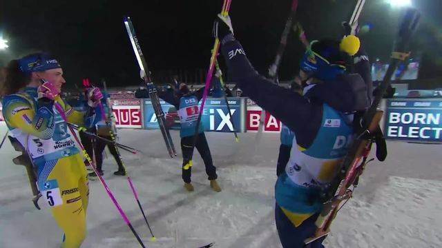 Kontiolahti (FIN), relais dames: première place pour la Suède devant la France et l'Allemagne [RTS]
